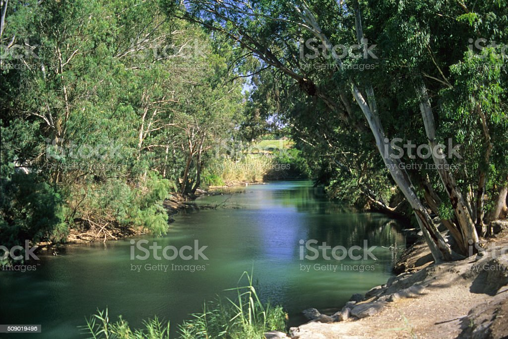 Jordan River, Israel stock photo