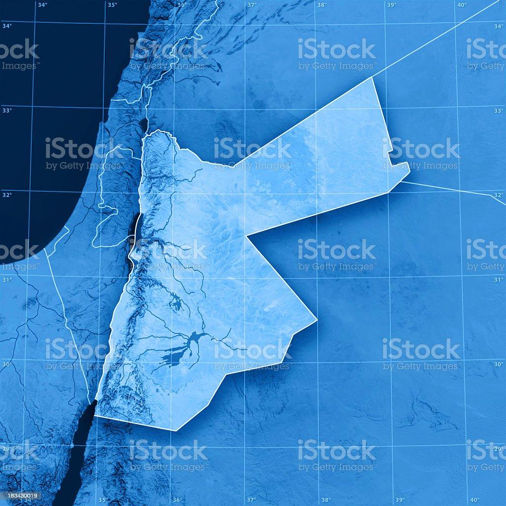 Jordan Topographic Map royalty-free stock photo