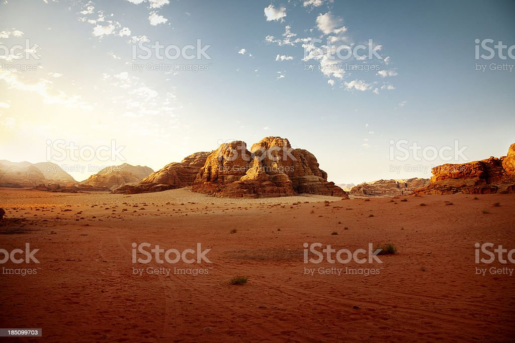 Jordanian dessert at sunrise stock photo