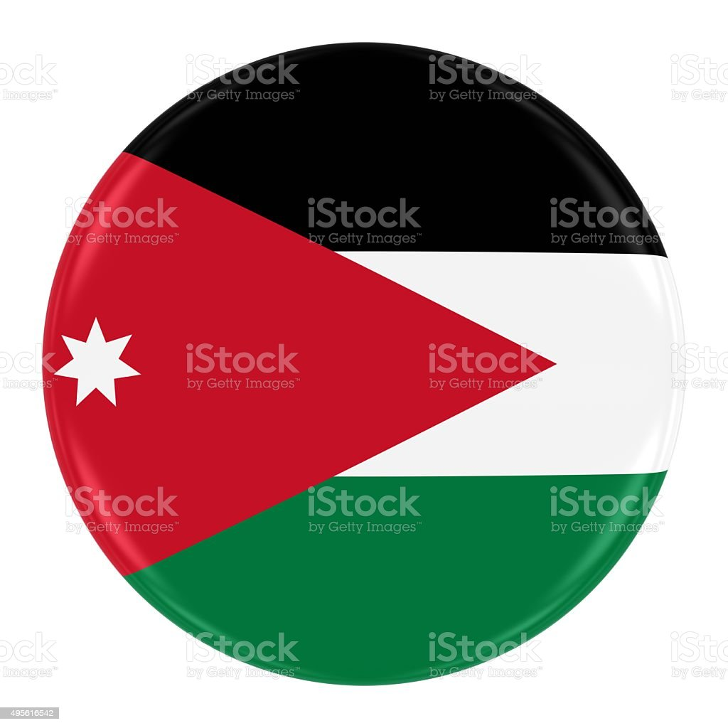 Jordanian Flag Badge stock photo