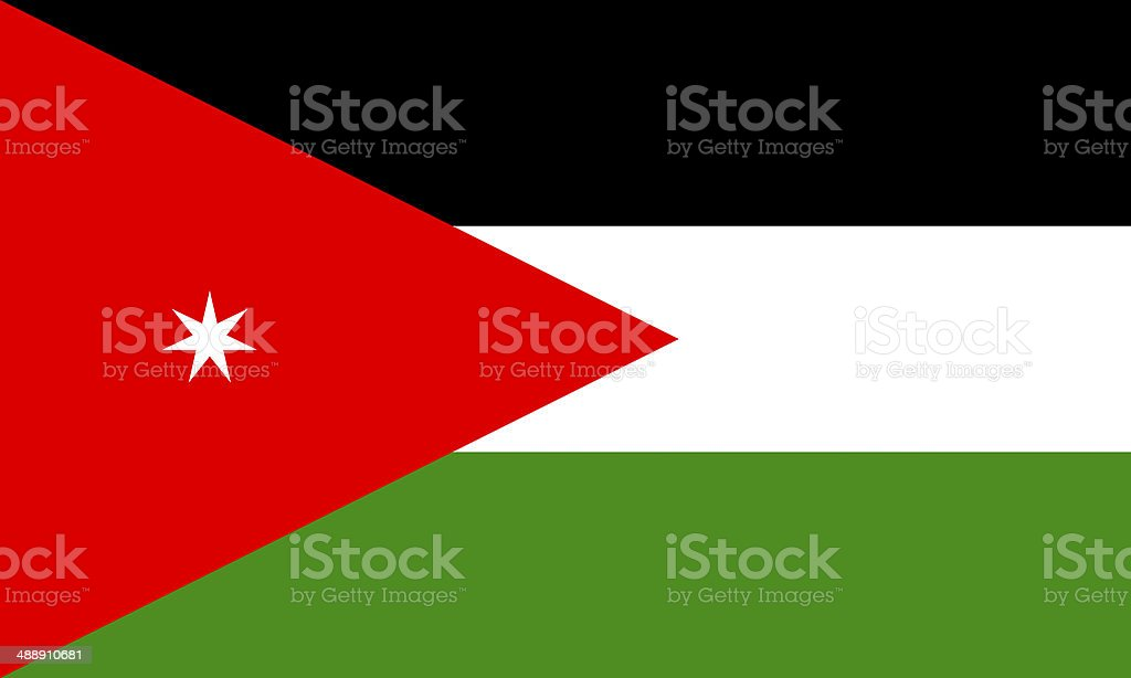 jordanian flag stock photo
