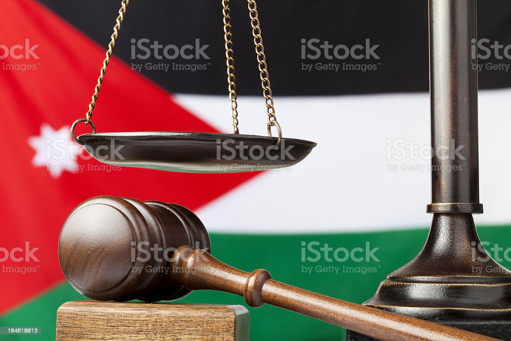 Jordanian law and justice stock photo