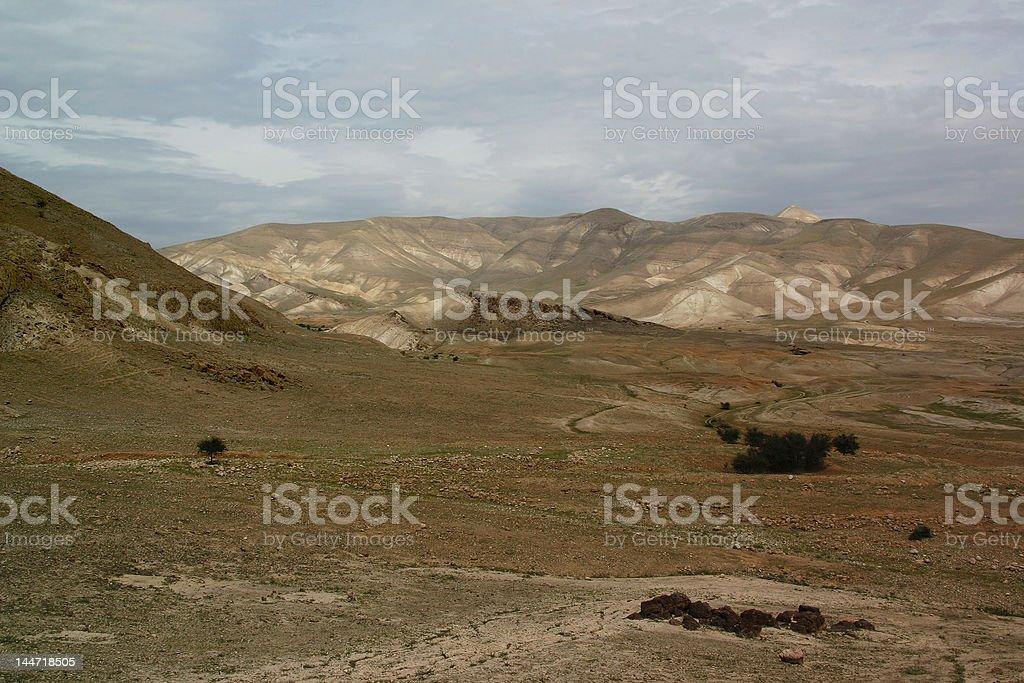 Jordanian valley royalty-free stock photo