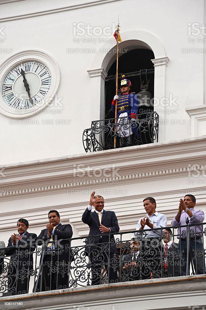 Jorge Glas, the vice president of Ecuador stock photo