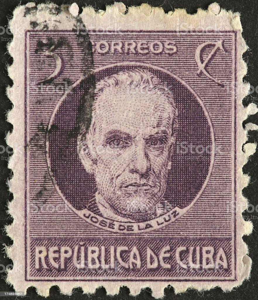 Jos? de la Luz y Caballero, Cuban scholar royalty-free stock photo
