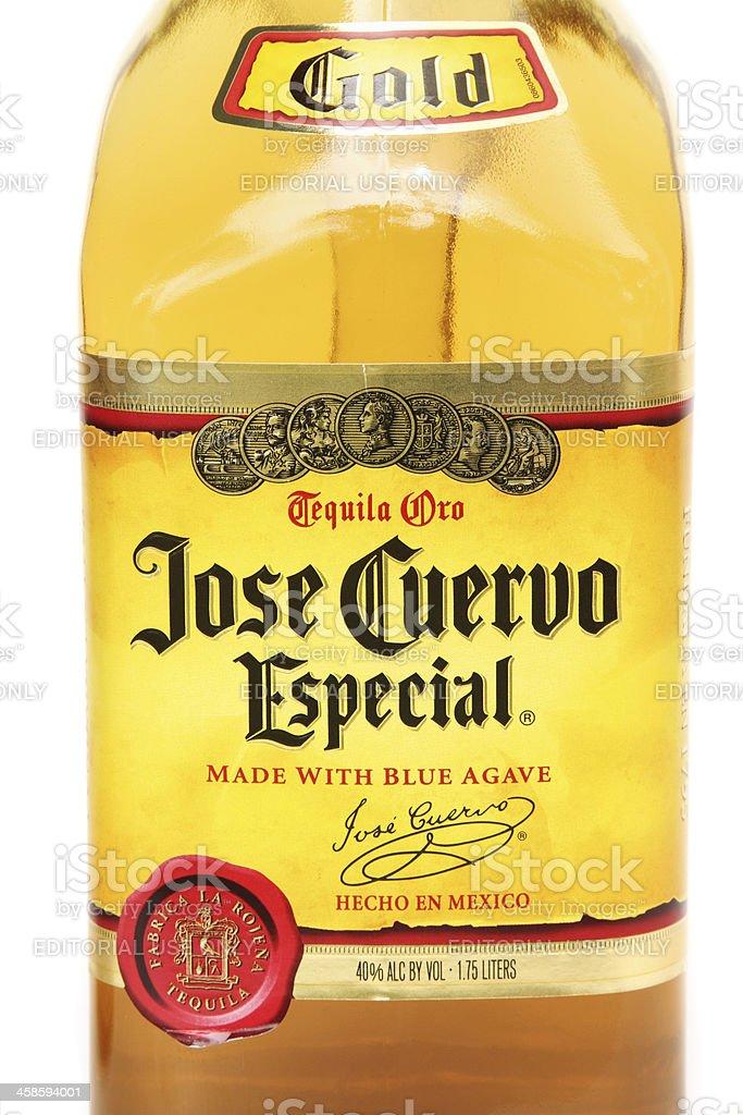 Jose Cuervo Especial Tequila Oro stock photo