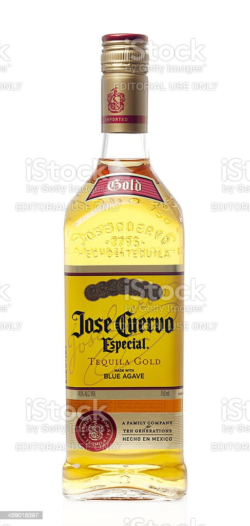 Jose Cuervo Especial Tequila stock photo