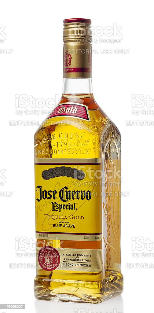 Jose Cuervo Gold Tequila stock photo
