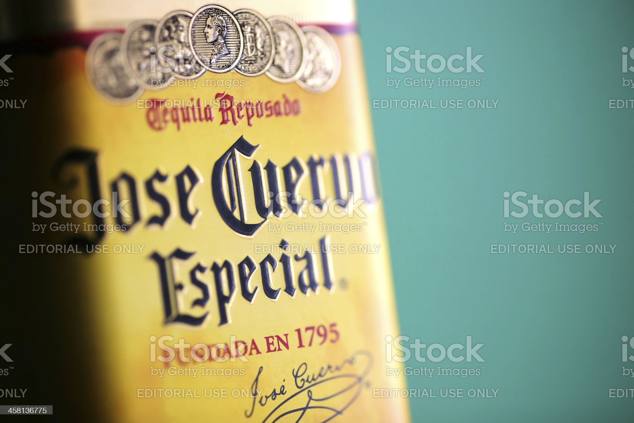 Jose Cuervo tequila bottle royalty-free stock photo