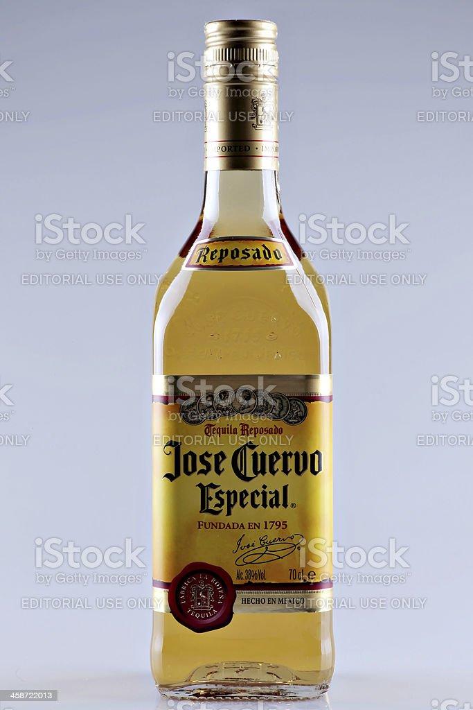 Jose Cuervo tequila bottle stock photo