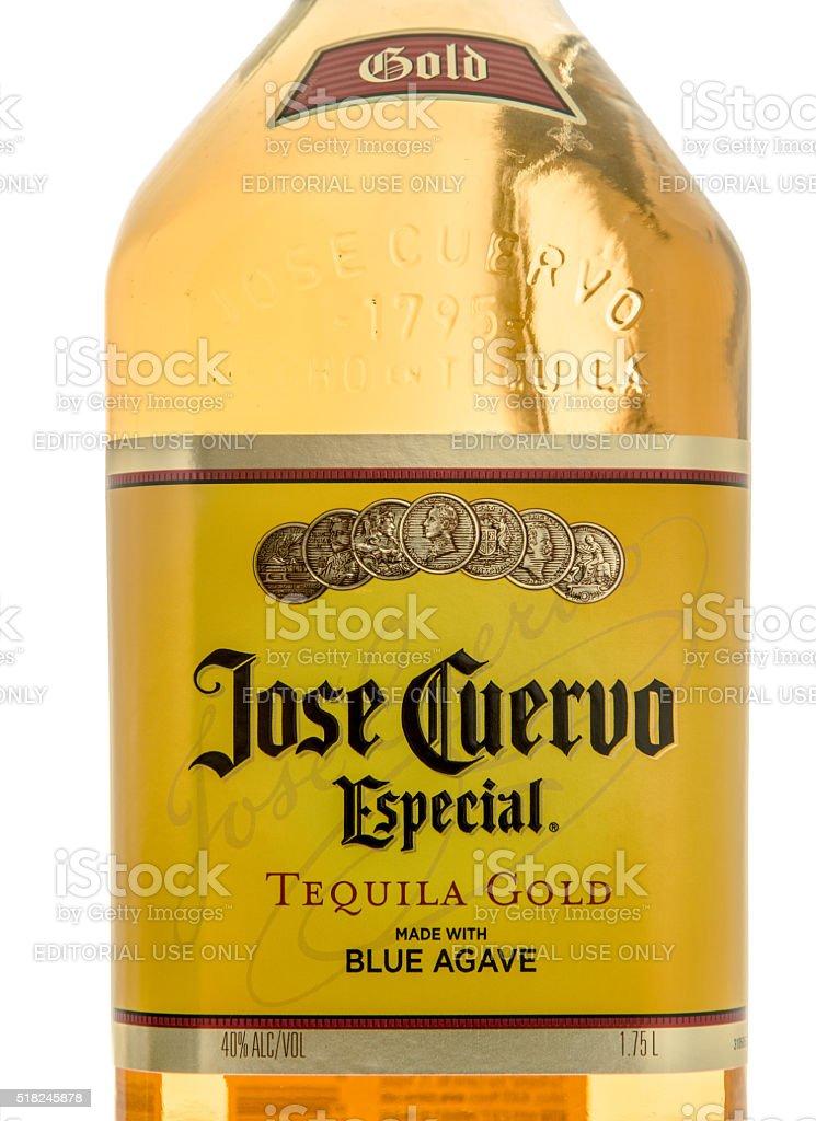 Jose Cuervo Tequila Gold stock photo