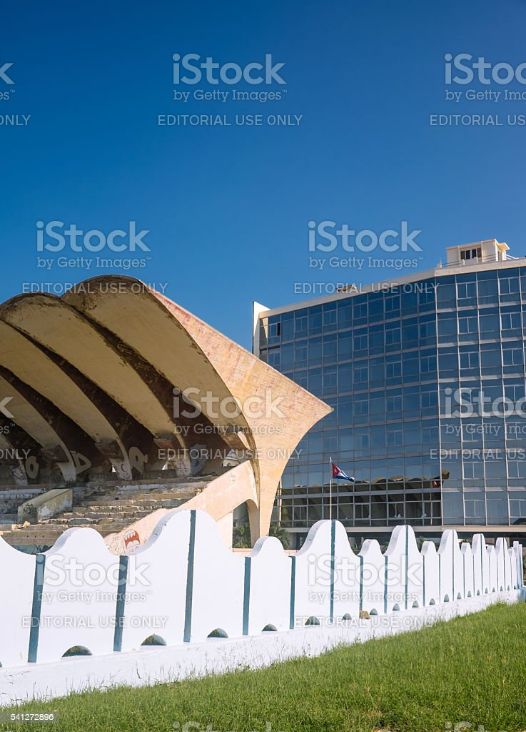 Jose Marti Stadium complex stock photo