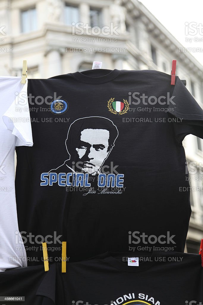 Jose Mourinho t-shirt in Milano stock photo