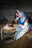 Joseph and Mary nativity scene