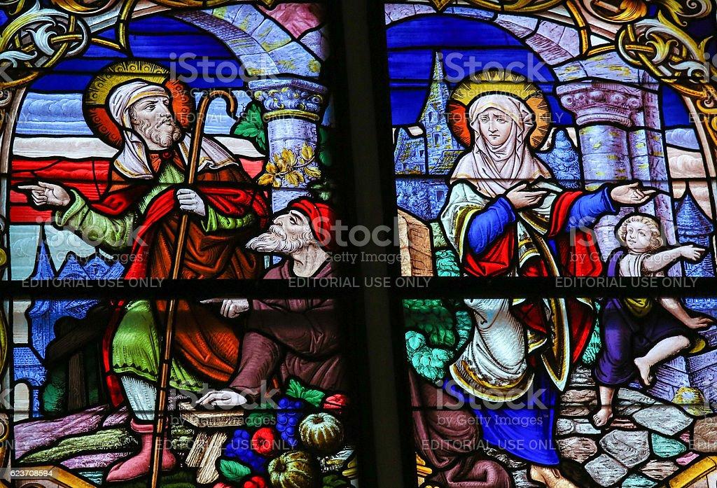 Joseph And Mary stock photo