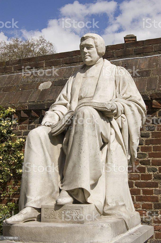 Joseph Goodall Statue, Eton stock photo