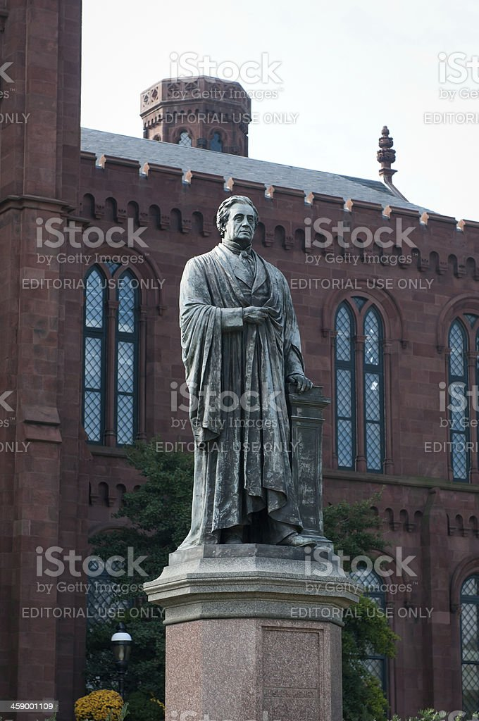 Joseph Henry statue at the Smithsonian Institution in Washington, DC stock photo