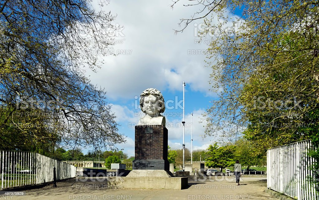 Joseph Paxton's statue at Crystal Palace royalty-free stock photo