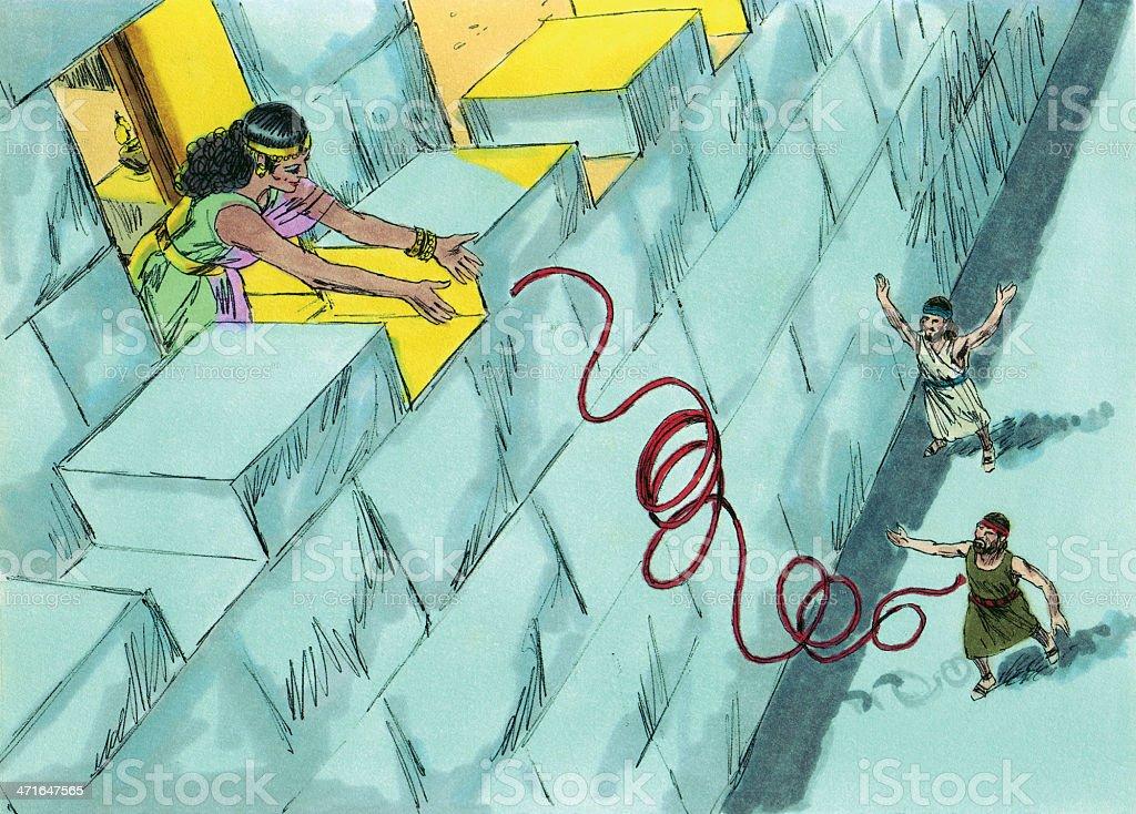 Joshua--Rahab Helps Spies stock photo
