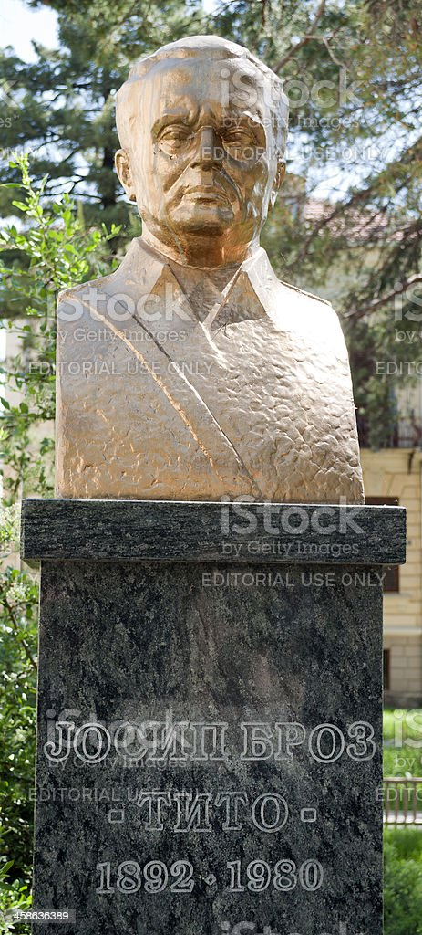 Josip Broz Tito Bust in Macedonia royalty-free stock photo