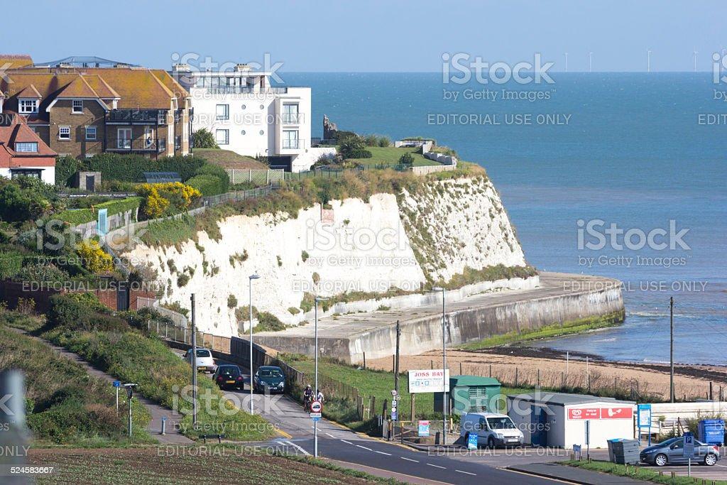 Joss Bay in Kent, England stock photo