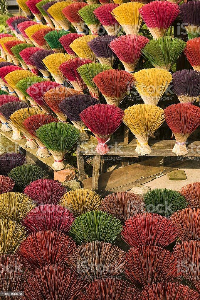 joss incense sticks drying hue vietnam royalty-free stock photo