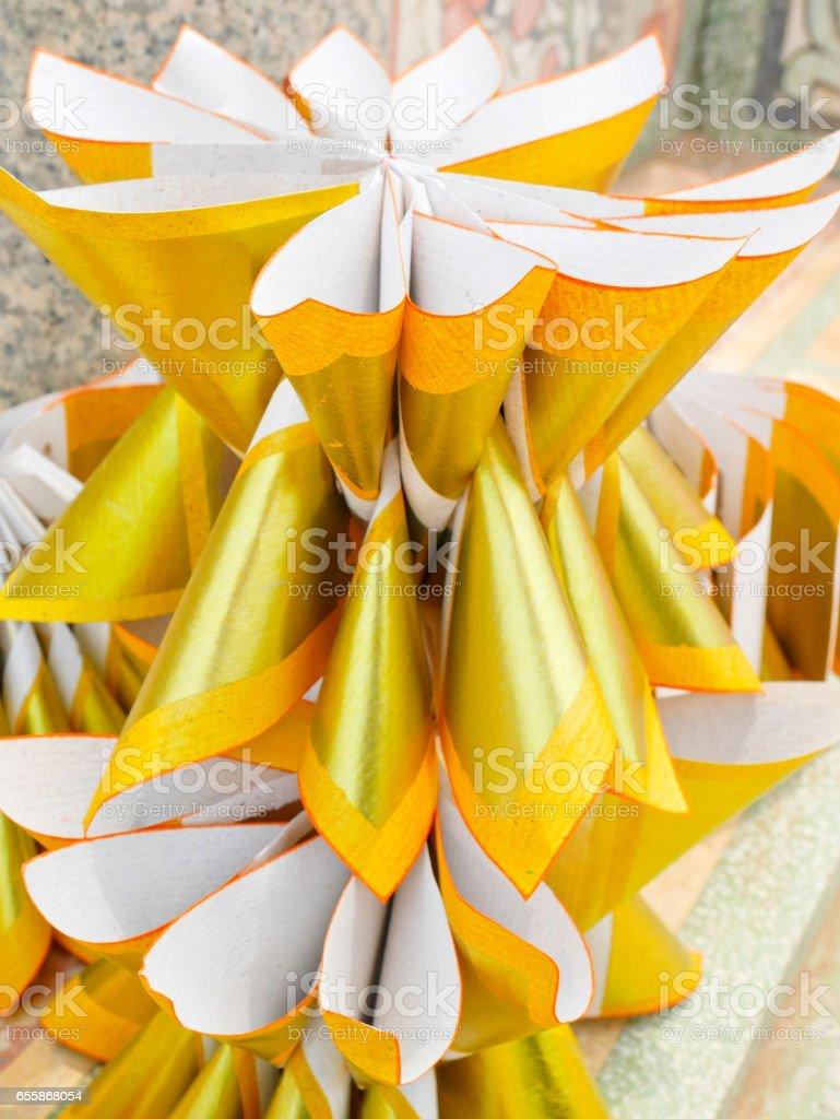Joss paper folded for burning stock photo