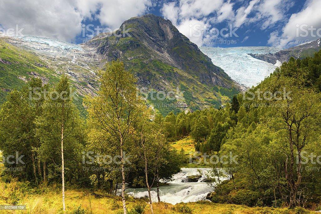 Jostedalsbreen glacier Norway stock photo
