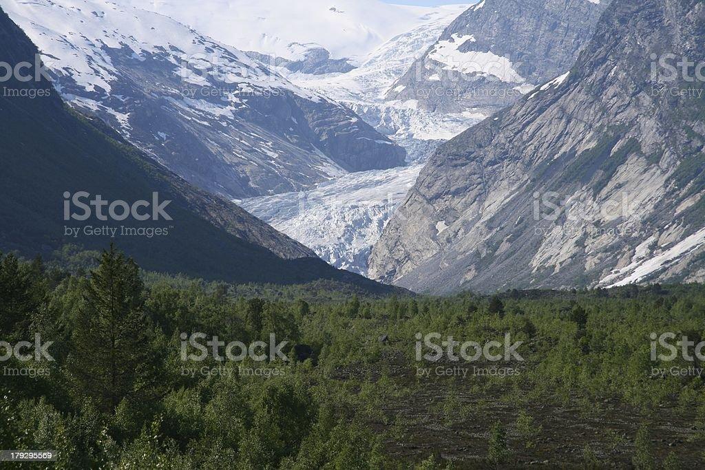 Jostedalsbreen glacier royalty-free stock photo