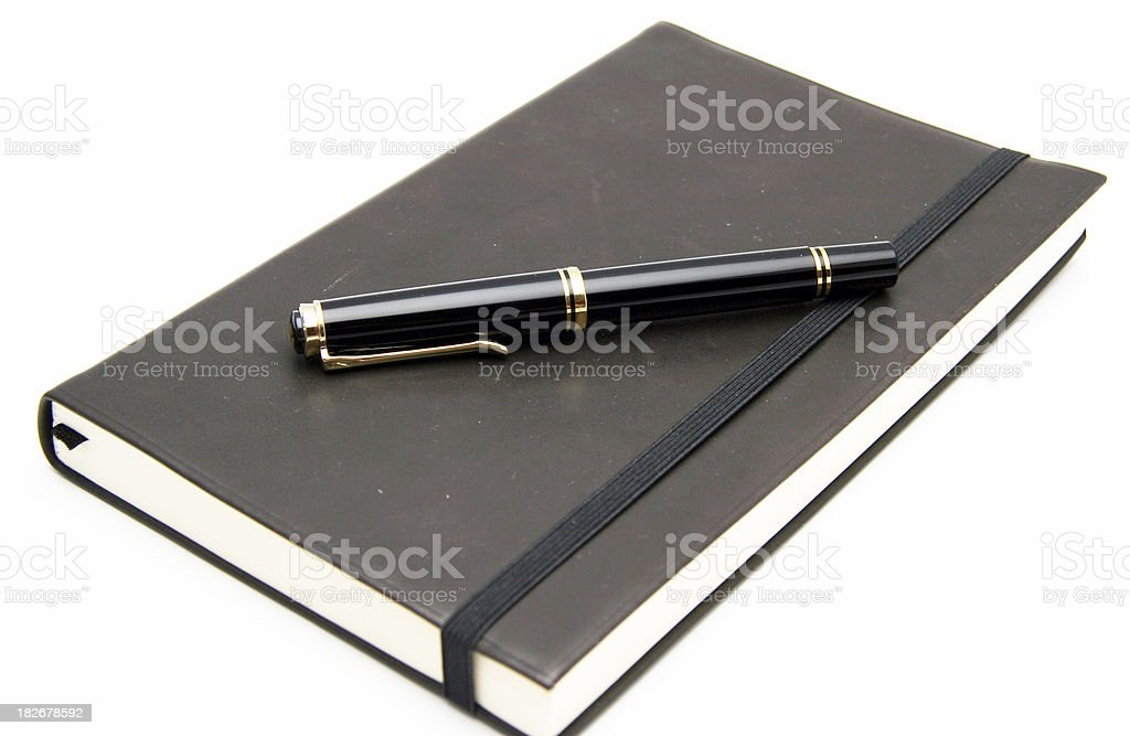 Jotter with pen stock photo