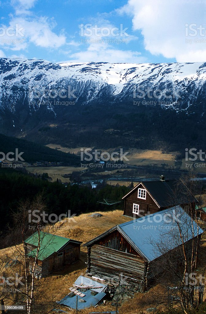 Jotunheimen - Descent royalty-free stock photo