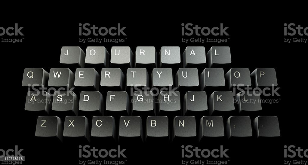 Journal Keeper's Keyboard royalty-free stock photo