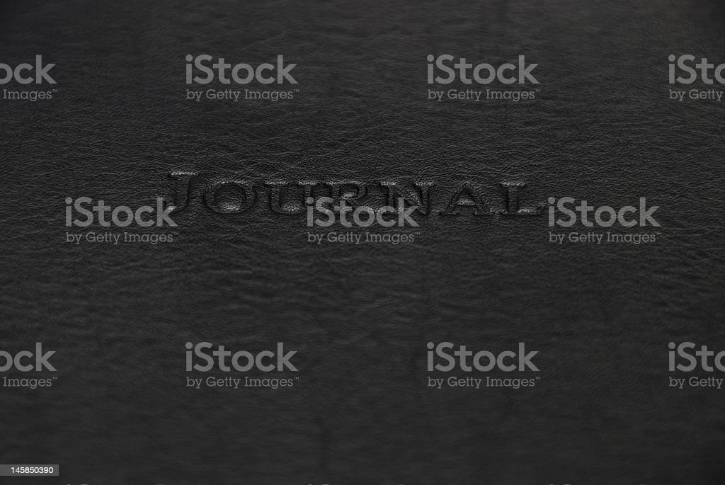 Journal Stamped in Leather with Copyspace royalty-free stock photo