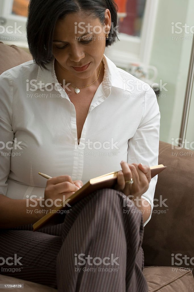 Journaling royalty-free stock photo