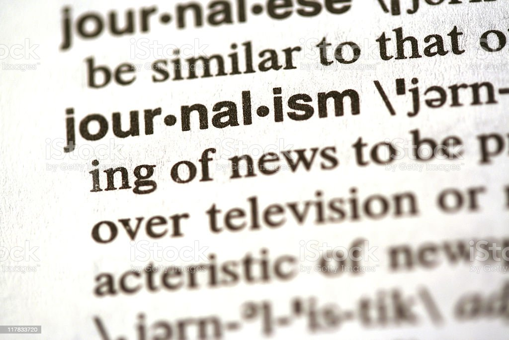 Journalism defined stock photo