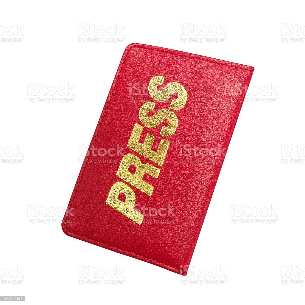 Journalist Card royalty-free stock photo