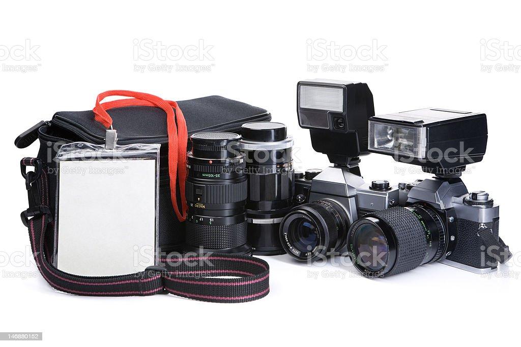 Journalist equipment royalty-free stock photo