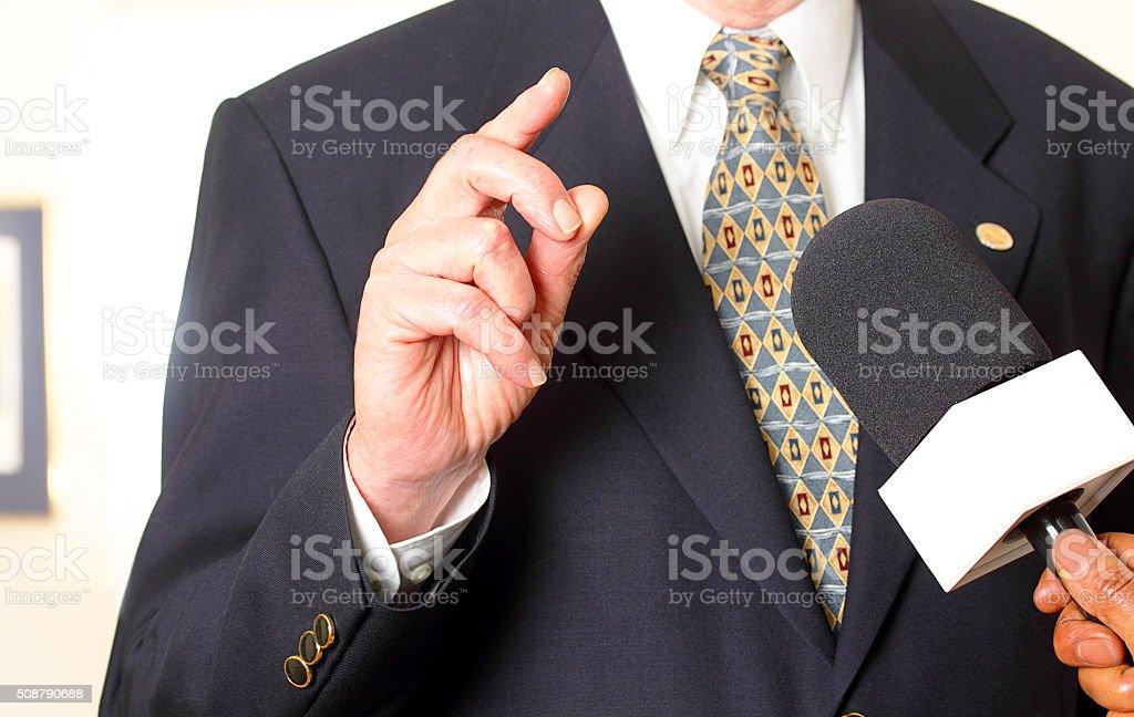 Journalist interview stock photo