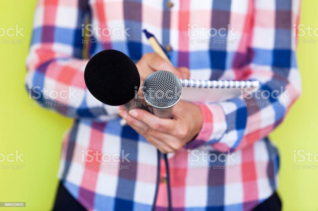 Journalist. News conference.Journalism. stock photo