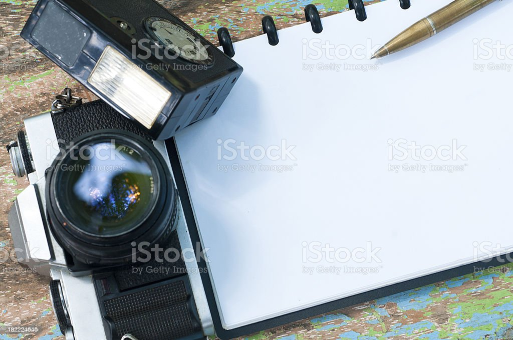 Journalist note with old Pen royalty-free stock photo