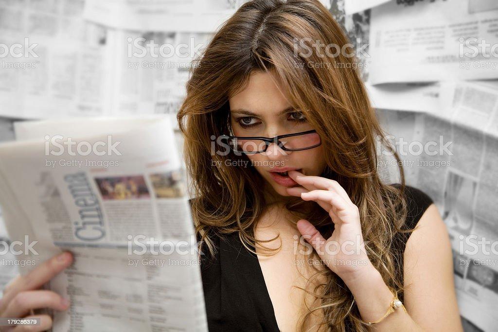 journalist royalty-free stock photo