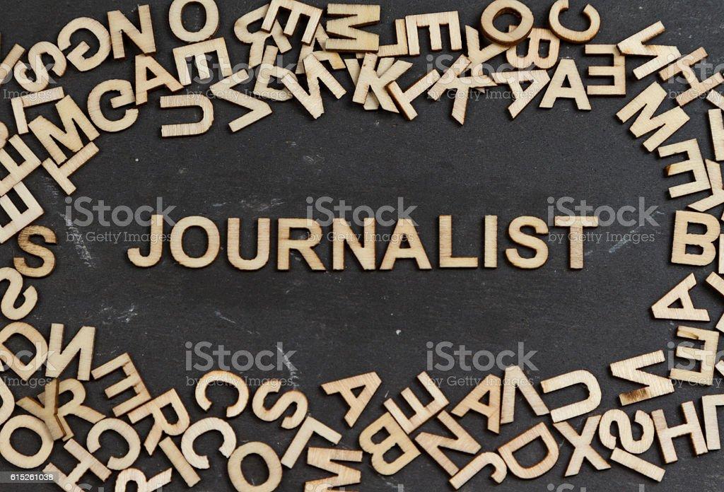 Journalist stock photo