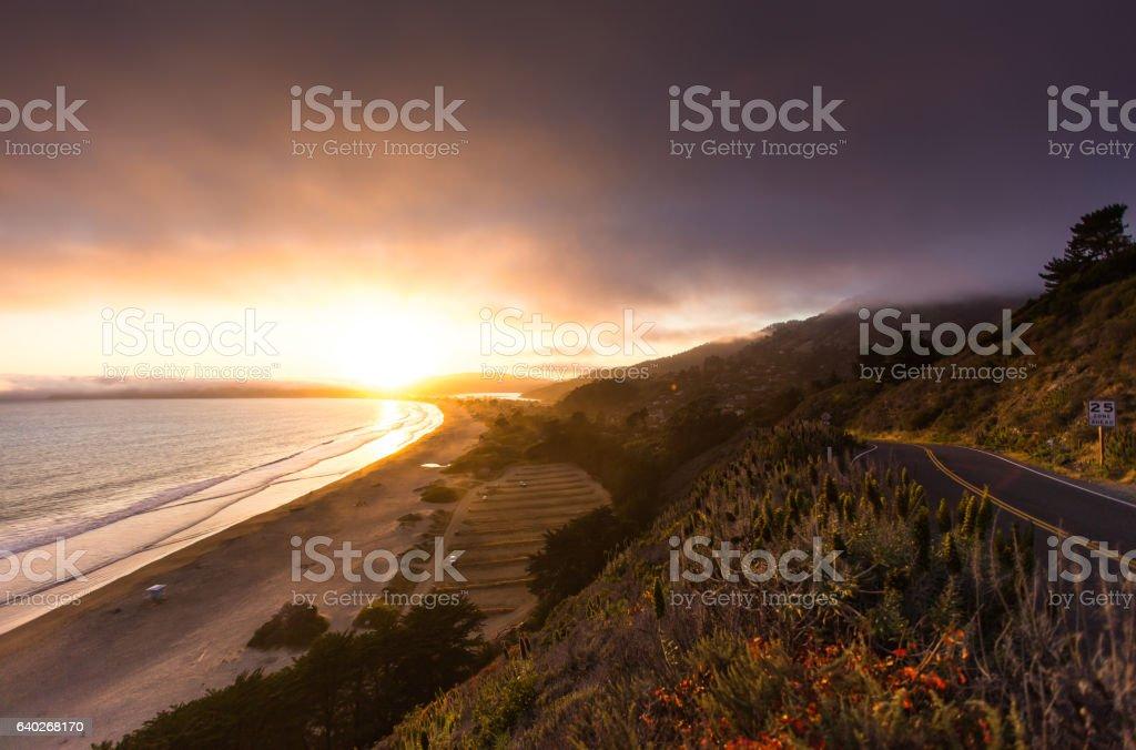 Journey Along Pacific Coast Highway stock photo