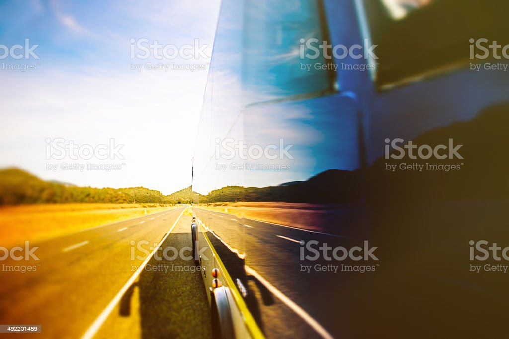 Journey bus stock photo
