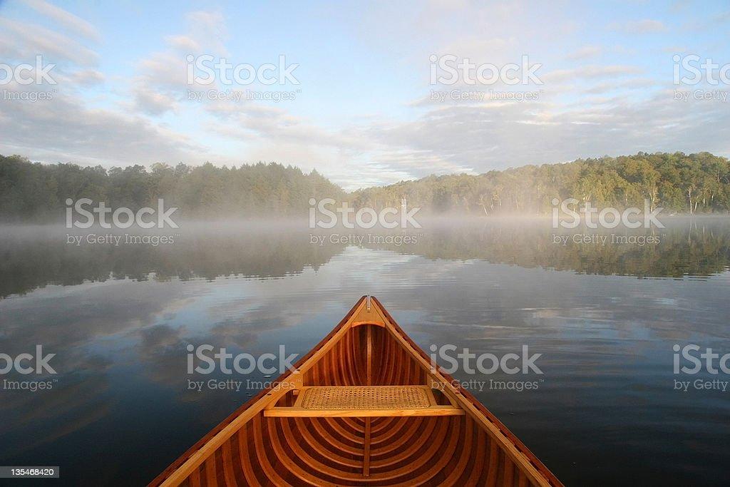 Journey by Cedar Canoe - Haliburton, Ontario stock photo