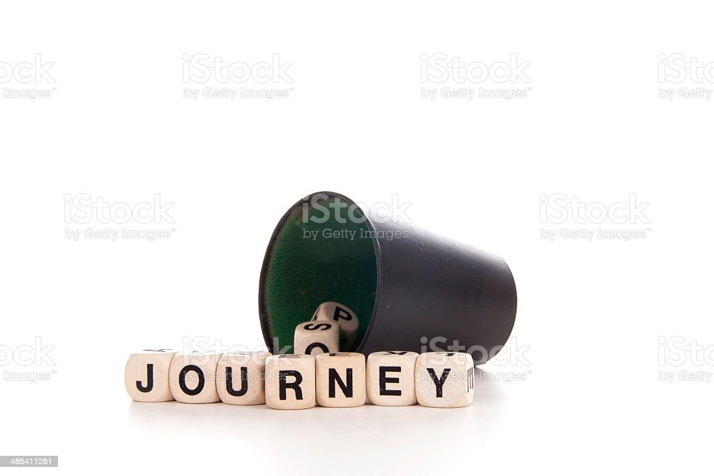 journey in dices royalty-free stock photo