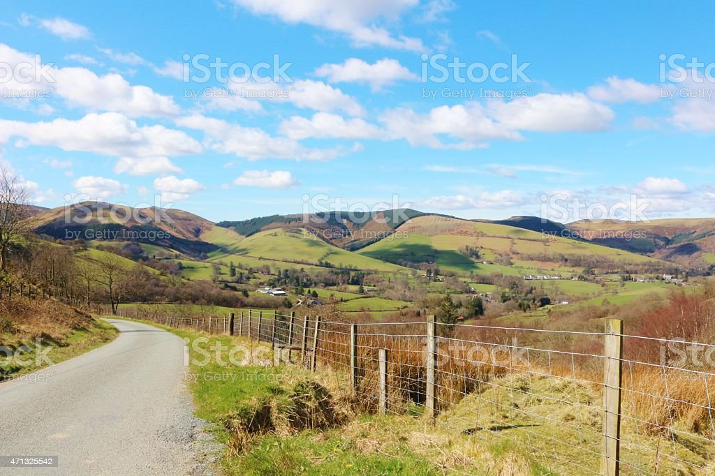 Journey through the Welsh countryside stock photo