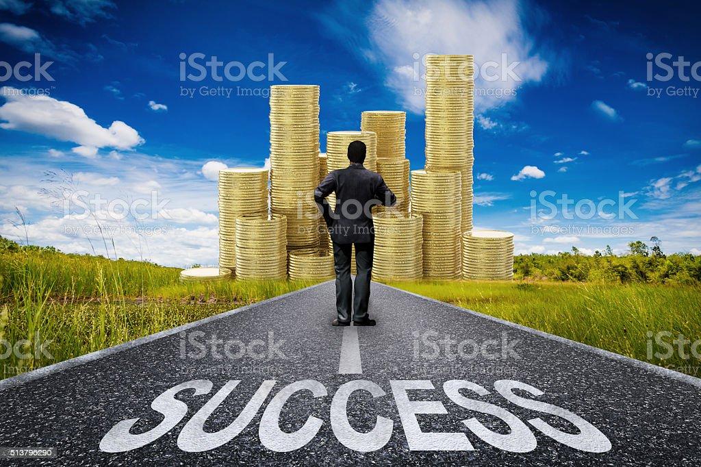 journey to success stock photo