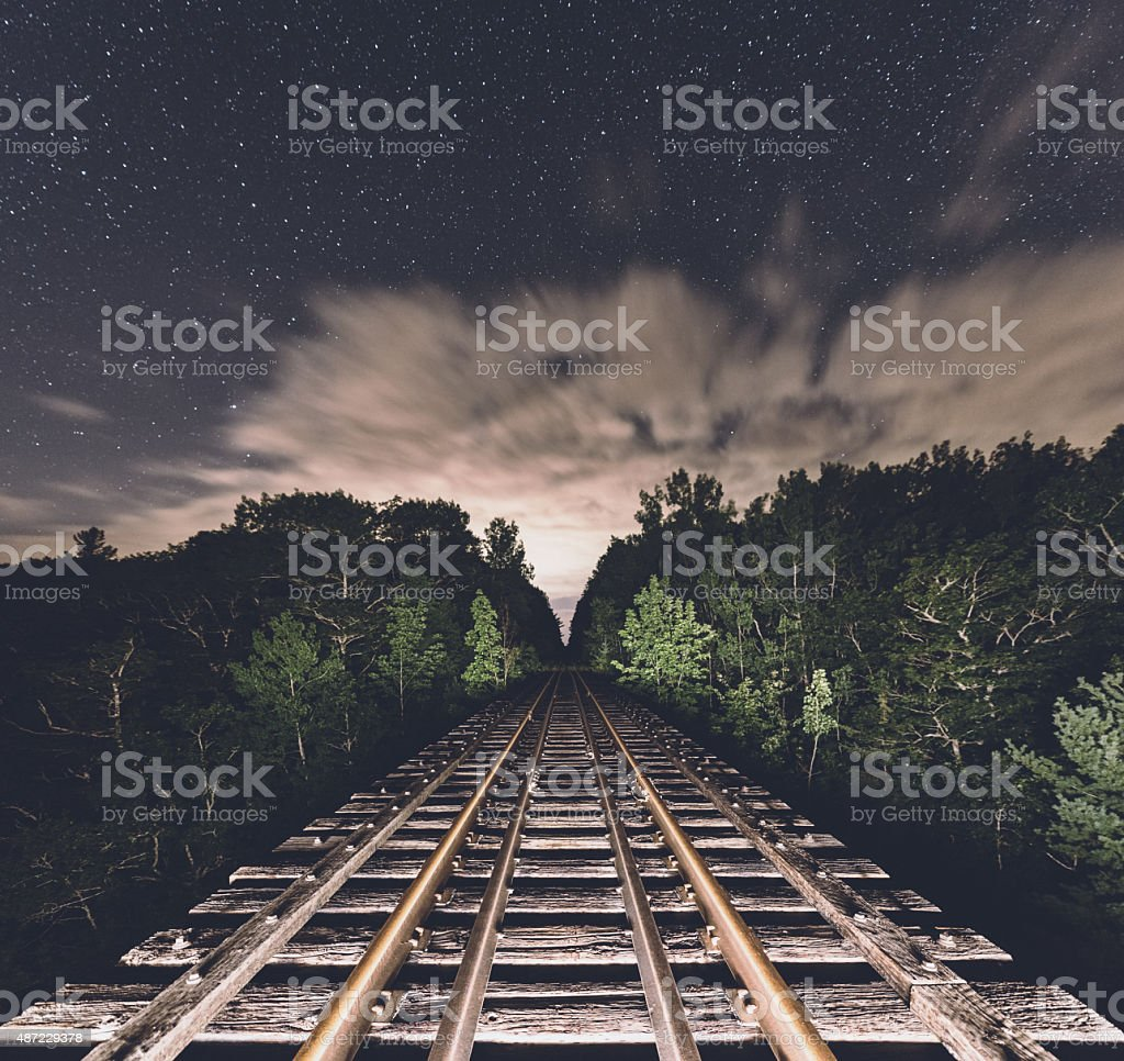 Journey to the Night stock photo