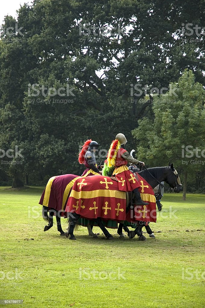 Jousters stock photo